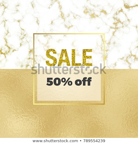 gold sale background in frame golden glitter flyer poster shopping for selling sign discount m stock photo © ikopylov