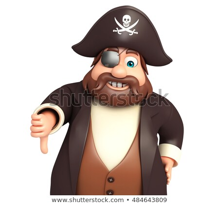 Cartoon Captain Thumbs Down Stock photo © cthoman