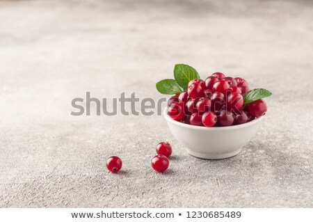 Bowl of Cranberries, paths Stock photo © maxsol7