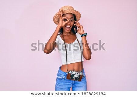 Oeil caméra parler signe symbole vecteur Photo stock © vector1st