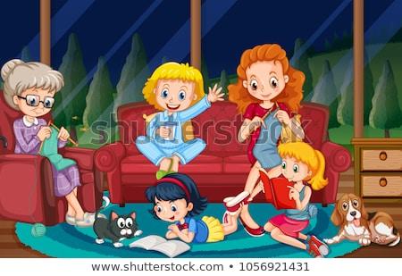 Stock fotó: Gyerekek · dolgok · különböző · szobák · illusztráció · ház