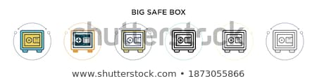 Money Box and Converter Color Vector Illustration Stock photo © robuart