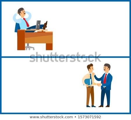 Travail pause directives ordre patron conversation Photo stock © robuart