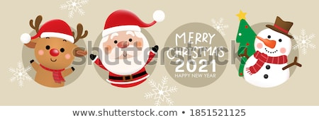 с · Новым · годом · типографики · знак · иллюстрация · Рождества - Сток-фото © robuart