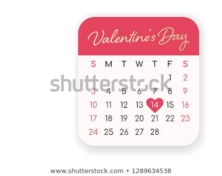 Valentines Day February 14 Calendar Concept Stock photo © ivelin