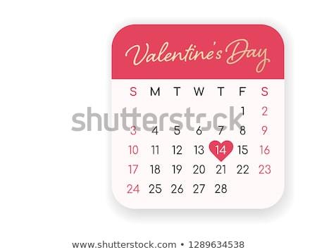 kalender · 14 · vorm · Rood · hart · liefde - stockfoto © ivelin