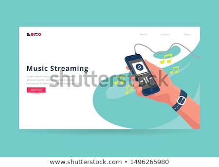 Connected living concept landing page. Stock photo © RAStudio