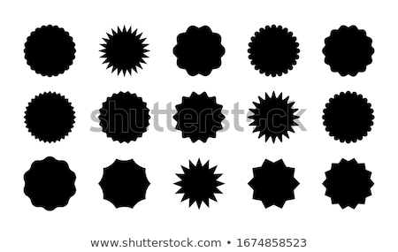 Retail Shop Promo Poster with Sale Badge Emblems Stock photo © robuart