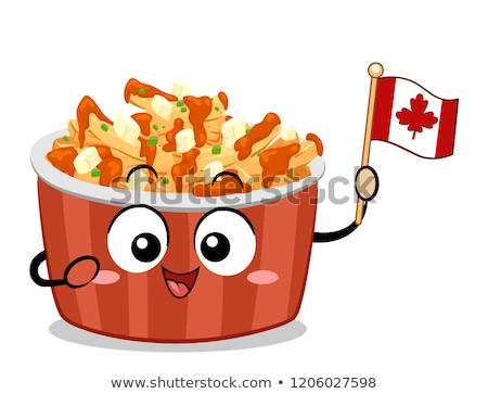 Mascot Food Canada Poutine Illustration Stock photo © lenm