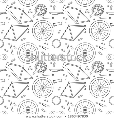 Stock photo: Seamless background from a set of signs road repairs, vector illustration.