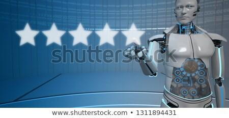humanoid robot click 5 star rating stock photo © limbi007
