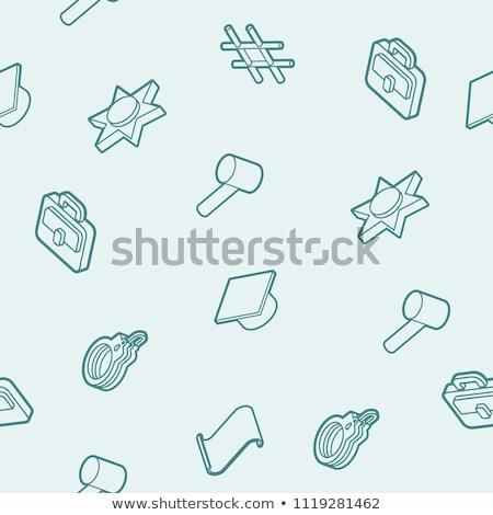 législation · isométrique · vecteur · document · bitcoin · marteau - photo stock © netkov1