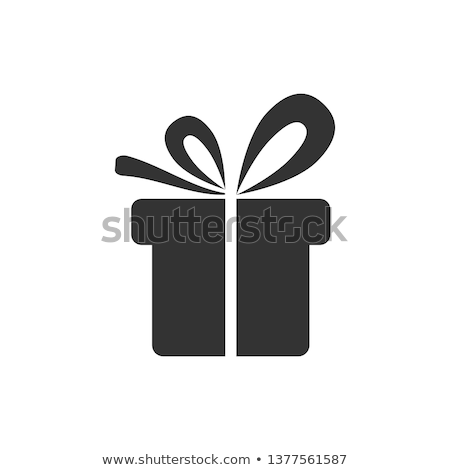 Gift Box Icon Isolated on White. Packed Present Stock photo © robuart
