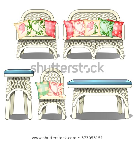 vector set of wicker chair stock photo © olllikeballoon
