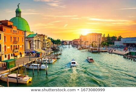 остановки Венеция черный воды город свет Сток-фото © Givaga