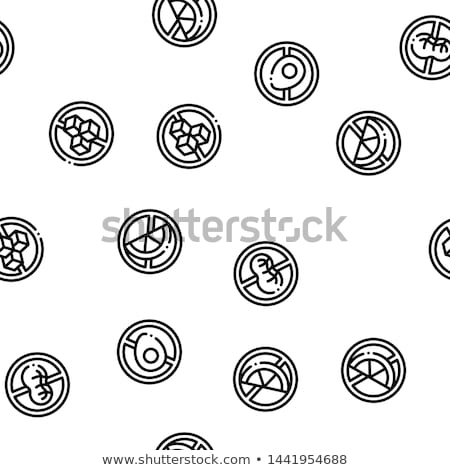 Allergen Free Products Vector Seamless Pattern Stock photo © pikepicture