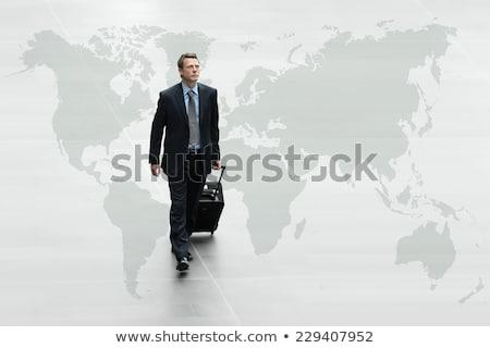 üzletember üzleti út térkép sötét öltöny elöl Stock fotó © ra2studio