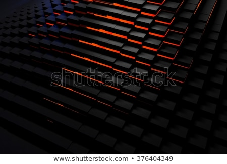 black background with red glowing low poly mesh stock photo © sarts