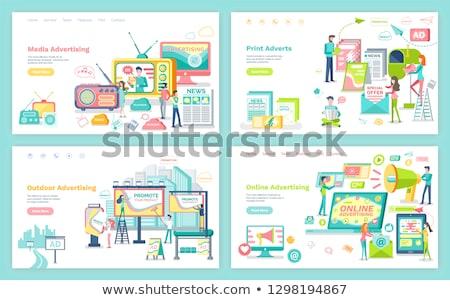 krant · sjabloon · ontwerp · dagelijks · twee - stockfoto © robuart