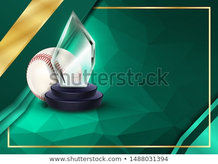 Baseball Certificate Diploma With Glass Trophy Vector. Sport Graduation. Elegant Document. Luxury Pa Stock photo © pikepicture