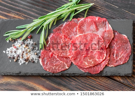 Carpaccio with seasonings Stock photo © Alex9500