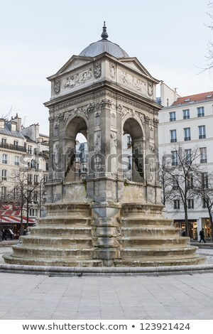 Париж монументальный общественного фонтан место Франция Сток-фото © borisb17
