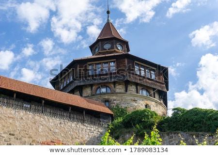 Kasteel Duitsland boven stad jaren altijd Stockfoto © borisb17