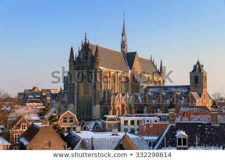Kerk Nederland gothic dating baksteen toegewijd Stockfoto © borisb17