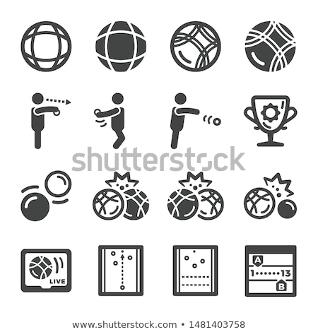 Stock photo: petanque icon set