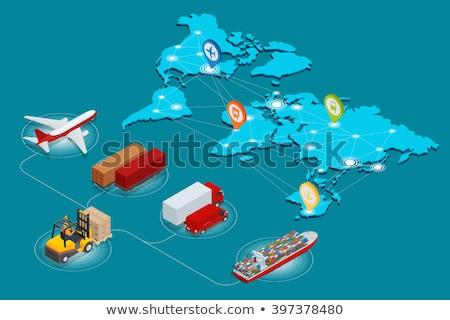 Negócios internacionais entrega China vetor pacote cartão Foto stock © robuart
