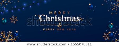 クリスマス 青 雪 グリッター 高級 ギフト ストックフォト © Anneleven