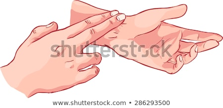 Ręce sprawdzić puls ilustracja dwa palce Zdjęcia stock © lenm