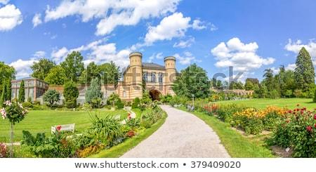 Palota Németország kilátás Európa tavasz kert Stock fotó © nailiaschwarz
