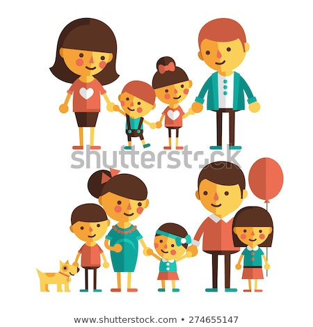 children and teen boys characters large set Stock photo © izakowski