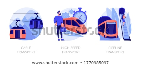 Largo distancia vehículos vector metáforas Cartoon Foto stock © RAStudio