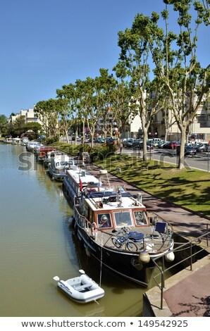 канал Франция город центр цветок Сток-фото © borisb17