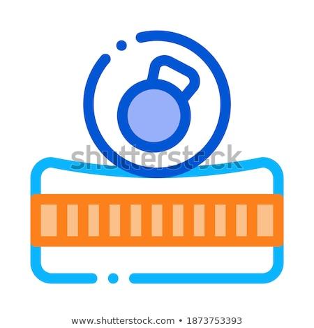 Colchão metálico peso ícone ilustração Foto stock © pikepicture
