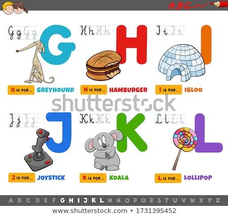 Cartoon alfabet zestaw zwierząt ilustracja Zdjęcia stock © izakowski
