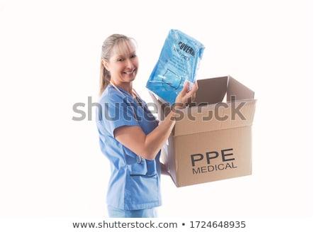 Enfermeira médico infecção tipo descartável Foto stock © lovleah