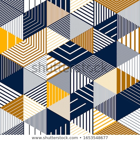 Yellow Rhombus 3D Pattern Background Stock photo © make