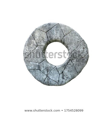 Letter O carved from stone Stock photo © ayaxmr