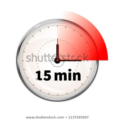 Realistyczny piętnaście protokół regulator czasowy biały Zdjęcia stock © evgeny89