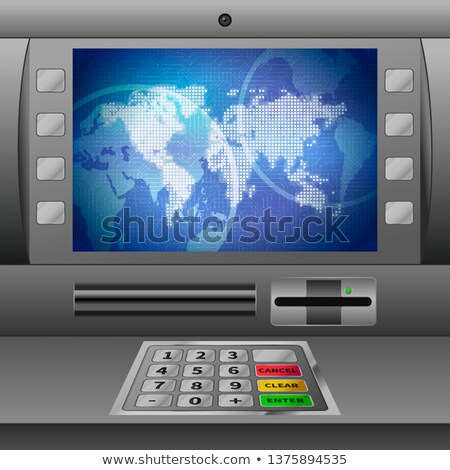 Realistic ATM machine with glossy display Stock photo © evgeny89