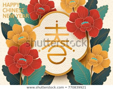 Beige flor resumen floral vacaciones branding Foto stock © Anneleven