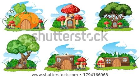Cartoon stylu biały ilustracja dzieci charakter Zdjęcia stock © bluering