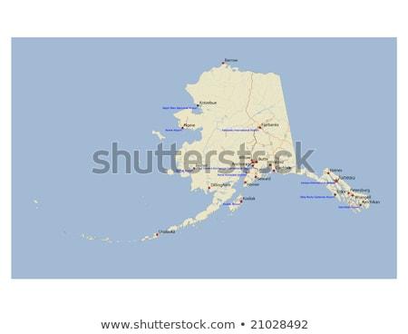 Alaska znak autostrady zielone USA Chmura ulicy Zdjęcia stock © kbuntu