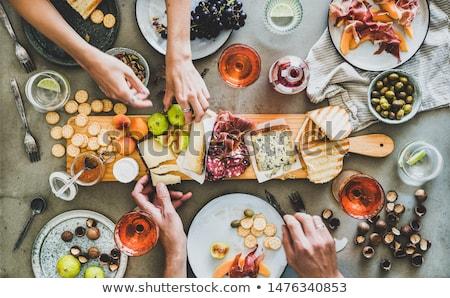 Bor gyümölcsök szőlő ital üveg piros Stock fotó © lovleah