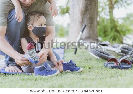 Zomerschoenen schoenen meisje vrouwen kind jeans Stockfoto © phbcz