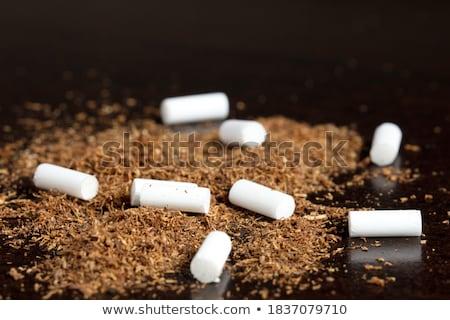sigara · turuncu · filtre · yalıtılmış · beyaz - stok fotoğraf © boroda