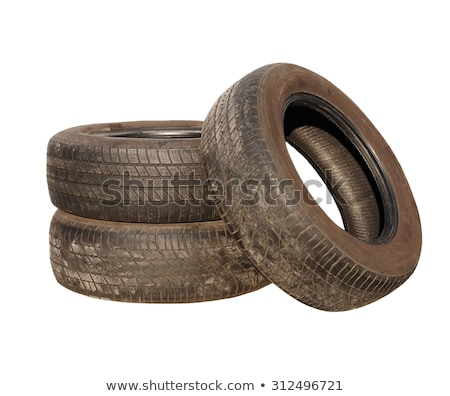 blanco · edad · neumáticos · pintado · coche - foto stock © stocksnapper